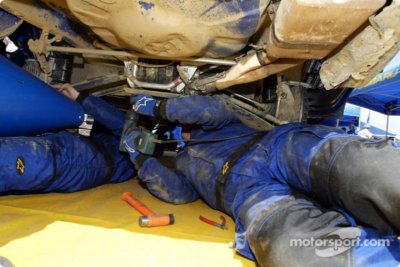 Servicio en el Subaru Impreza WRC
