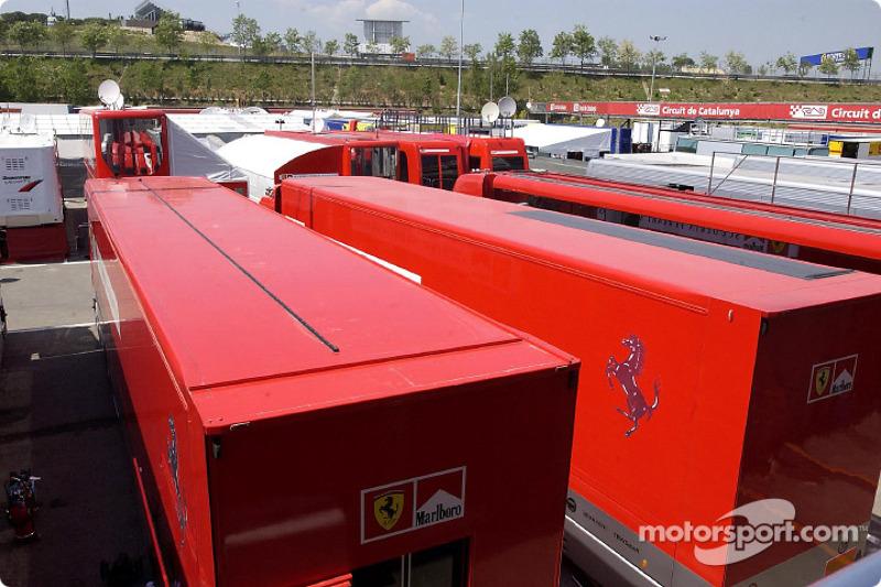 A view of the Circuit de Catalunya paddock