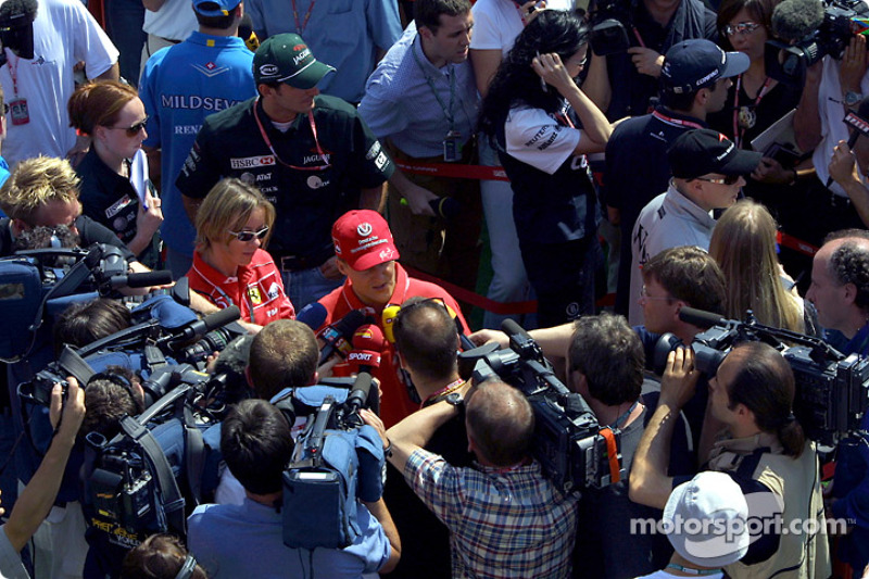 Interview for Michael Schumacher after the press conference