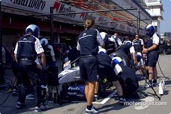 Práctica de parada de pits en Williams