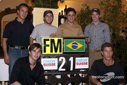 Felipe Massa ve his brazilian konukları