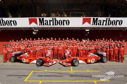 Family picture for team Ferrari