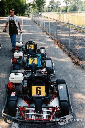 Avant la course, chaque Kart a été préparé