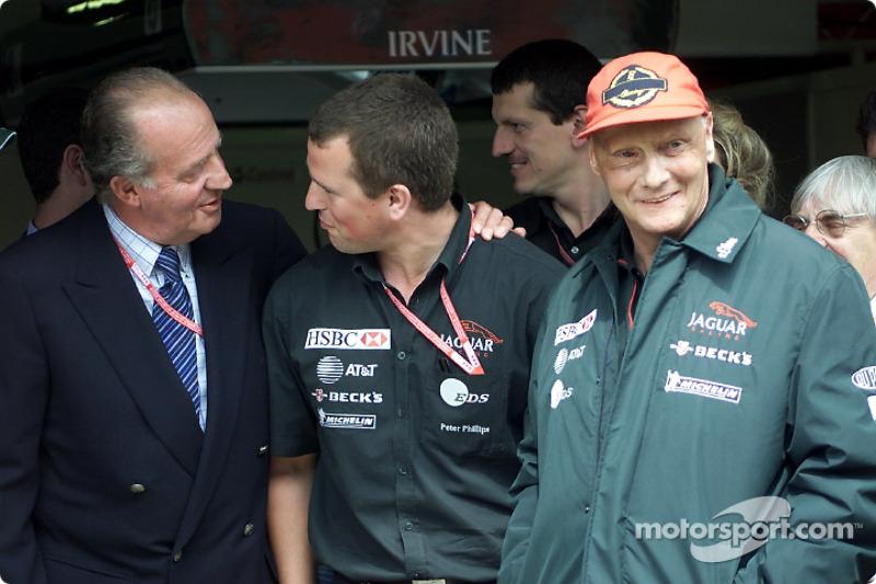 El Rey Juan Carlos y Niki Lauda