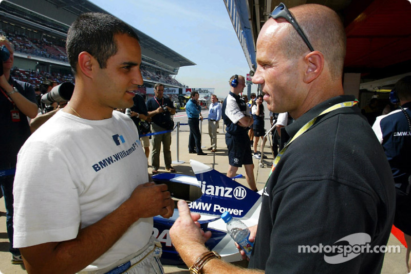 Juan Pablo Montoya and Randy Mammola