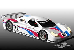 Retour de Brumos Motor Cars en 2003 avec une voiture conçue par Fabcar et propulsée par Porsche