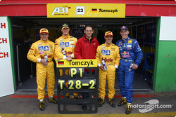 Christian Abt, Martin Tomczyk, Hans-Jürgen Abt, Laurent Aiello y Mattias Ekström