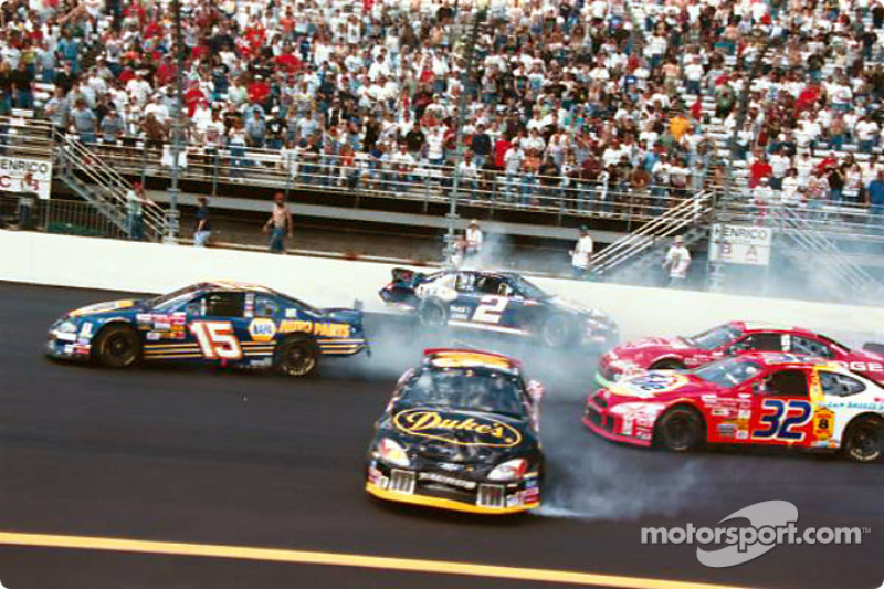 Rusty Wallace and Michael Waltrip accident