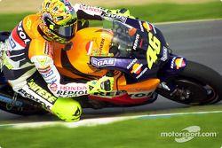 Valentino Rossi in Turn 1