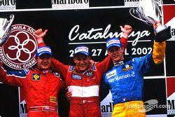 The podium: race winner Enrico Toccacello, Tomas Enge and Sébastien Bourdais
