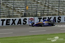 The new Indy Racing Infiniti Pro Series car driven by Robby McGehee during its first superspeedway test