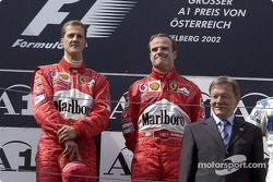 Podyum: Michael Schumacher ve Rubens Barrichello