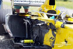 El Jordan de Takuma Sato tras el accidente
