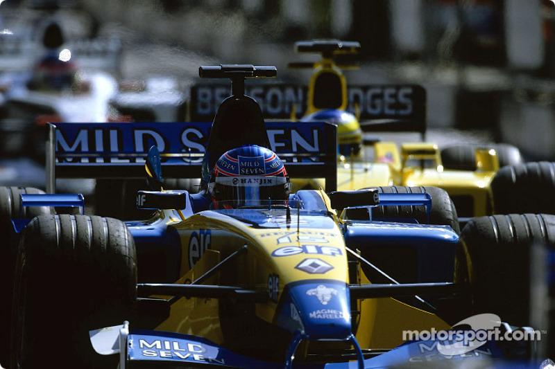Jenson Button, pit exit