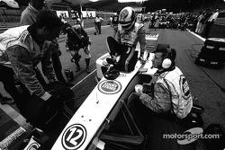 Olivier Panis on the starting grid