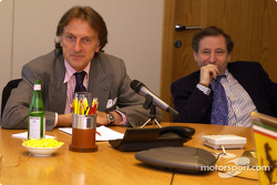 Monday morning: Luca di Montezemelo and Jean Todt