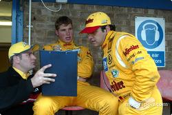Franco Chiocchetti, Martin Tomczyk, Abt Sportsline, Abt-Audi TT-R, und Christian Abt, Abt Sportsline, Abt-Audi TT-R