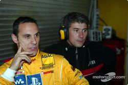 Laurent Aiello, Abt Sportsline, Abt-Audi TT-R, mit Renningenieur Ludovic Lacroix