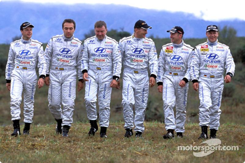 Los pilotos del Equipo Hyundai World Rally