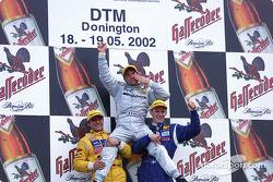 Podium: 1. Jean Alesi, Team HWA, AMG-Mercedes CLK-DTM 2002; Christian Abt, Abt Sportsline, Abt-Audi TT-R; Mattias Ekström, Abt Sportsline, Abt-Audi TT-R