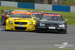 Martin Tomczyk, Abt Sportsline, Abt-Audi TT-R; Jean Alesi, Team HWA, AMG-Mercedes CLK-DTM 2002