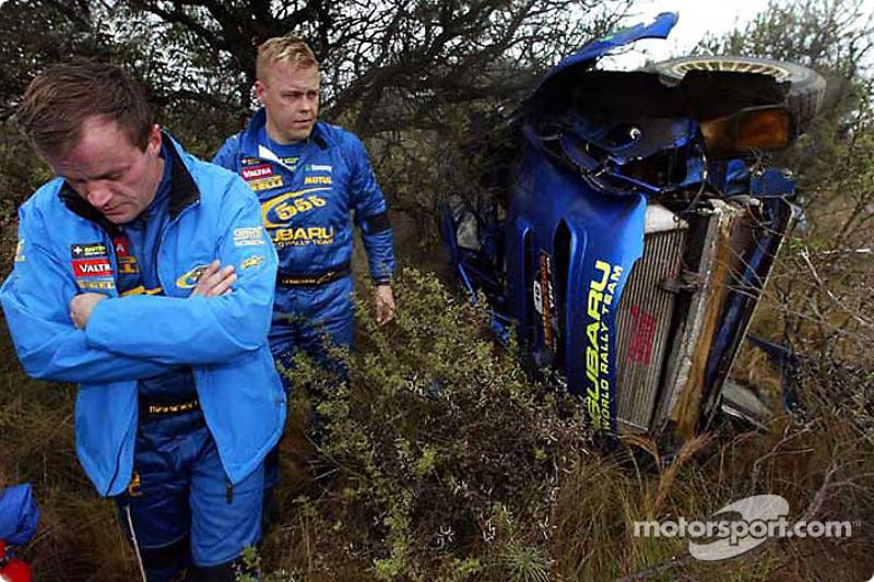 Tommi Makinen tras el accidente