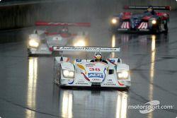 Tom Kristensen leading Rinaldo Capello and David Brabham