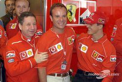 Anniversaire de Rubens Barrichello : Jean Todt, Rubens Barrichello et Michael Schumacher