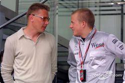 Mika Hakkinen et Kimi Raikkonen
