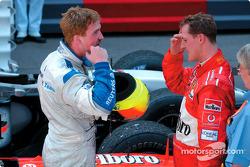 Ralf Schumacher front, erkek kardeşi Michael