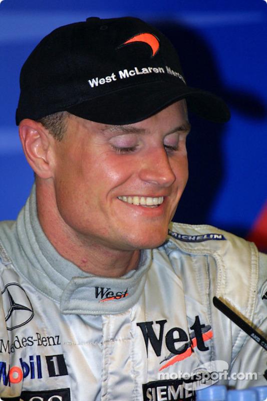 Conferencia de prensa de los ganadores: el triunfador de la carrera, David Coulthard