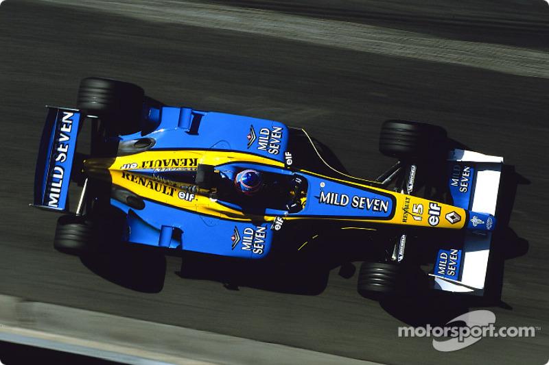 Jenson Button en la sesión de calentamiento