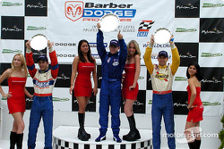 The podium: race winner A.J. Allmendinger, Marc Breuers and Rafael Sperafico
