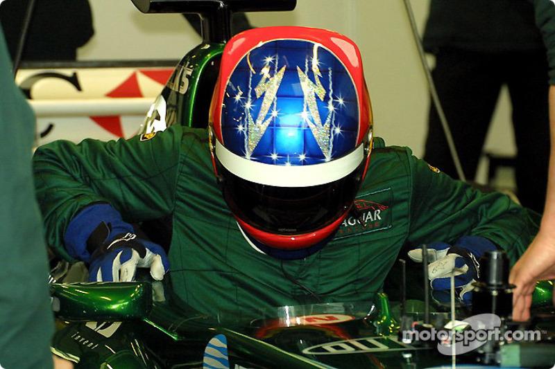 Casco de Fernando Alonso en 2002 (Test con Jaguar, Bieffe)
