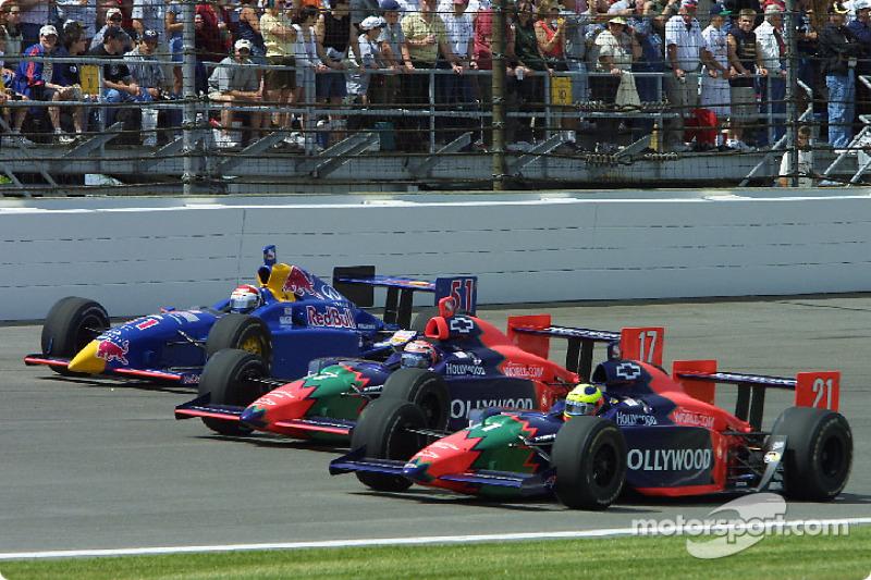 Felipe Giaffone, Tony Kanaan and Eddie Cheever