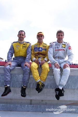 Laurent Aiello avec Alain Menu et Bernd Schneider