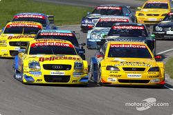 Start: Christian Abt, Abt Sportsline, Abt-Audi TT-R; Yves Olivier, OPC Euroteam, Opel Astra V8 Coupé 2001