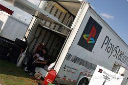 Le transporteur de l'équipe Playstation 2
