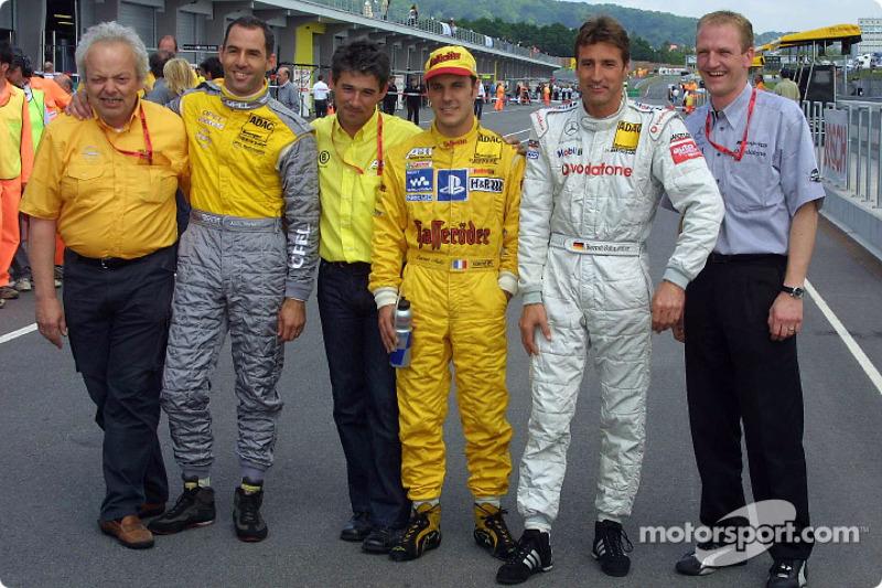 Pole-Position: Laurent Aiello, Abt Sportsline, Abt-Audi TT-R; Alain Menu, OPC Euroteam, Opel Astra V