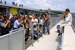Fotoshooting mit den schnellsten Fahrern im Qualifying