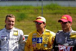 Marcel Fässler, Team HWA, AMG-Mercedes CLK-DTM 2002; Christian Abt, Abt Sportsline, Abt-Audi TT-R; T