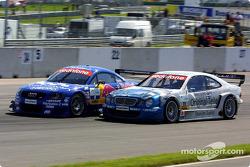 Mattias Ekström, Abt Sportsline, Abt-Audi TT-R; Thomas Jäger, Persson Motorsport, AMG-Mercedes CLK-D
