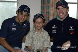 Visit, Sainte-Justine Children hospital, Montreal: Felipe Massa ve Nick Heidfeld