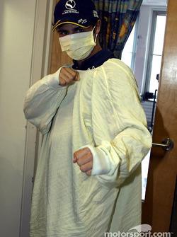 Visita al Hospital Infantil de Sainte-Justine en Montreal: Felipe Massa