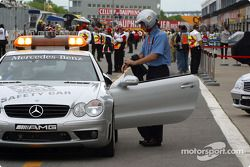 track is about to open: Bernd Mayl��nder taking place official Car