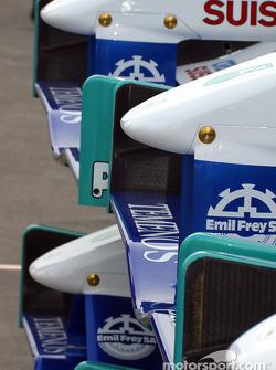 Los conos de la nariz del Sauber