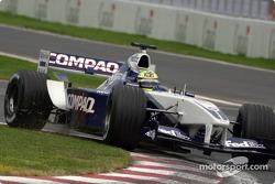 Ralf Schumacher trabajando duro