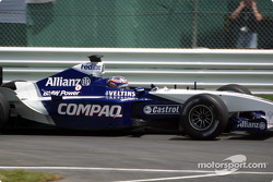 Juan Pablo Montoya going to the pre-grid