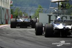 Kimi Raikkonen y Ralf Schumacher