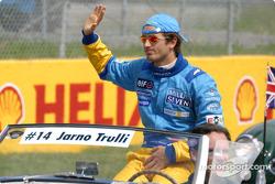 Drivers' parade: Jarno Trulli